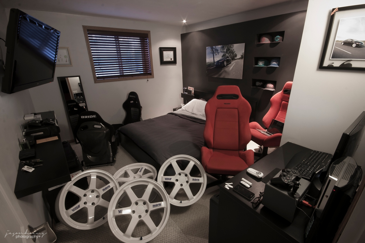 "The infamous room shot. ""The only way he can afford all that is because he lives with his parents"". Why yes, that was 99% of the reason why and I don't give a fuuuu. I have my own house and could still put this together, haters."