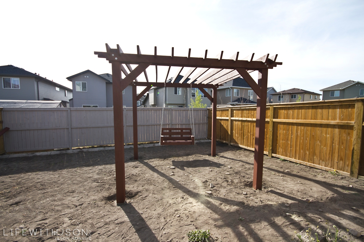 That time we built a Pergola in my backyard.